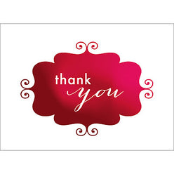 Banner Thank You Note- Red-  10 Count