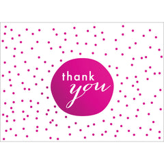 Tiny Dots Thank You Note- Pink-  10 Count