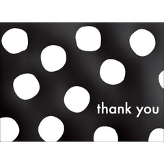 Big Dots Thank You Note- Black  -  10 Count