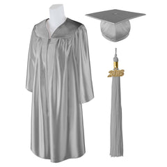 "Standard SHINY Graduation Cap and Gown with Matching 2018 Tassel - Size  Plus 3 6'0""-6'5"" Over 350 lb."