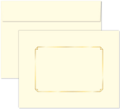 Ivory Certificate Envelope  -  5 Count