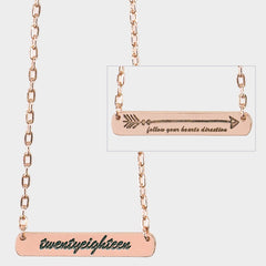 Rose Gold Senior Direction Necklace Dated 2018