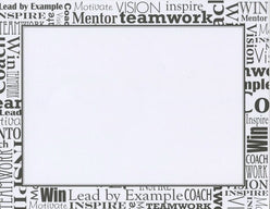 Black and White Words Certificates  --  25 Count