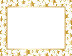 Gold Twinkle Gold Foil Certificate  -  50 Count