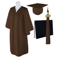 "Standard Matte Graduation Cap, Gown and DIPLOMA Cover with Matching 2018 Tassel - Size  6'0""-6'2"""