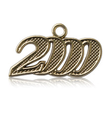 Year 2000 Gold Drop Date Signet for Graduation Tassel