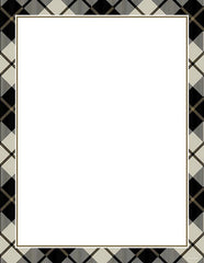 Black Plaid Letterhead  -  80 Count