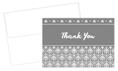 Acanthus Gray Thank You Notes 24 Count