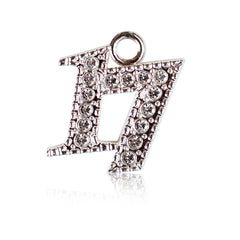 Year 2017 Bling Drop Date Charm for Graduation Tassel
