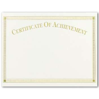 Certificate of Achievement- Gold Foil  -  15 sheet pack