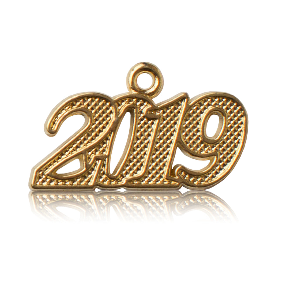 Year 2019 Gold Drop Date Signet for Graduation Tassel