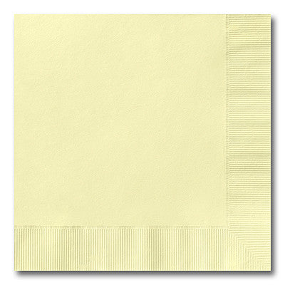 Pastel Yellow Dinner Napkins