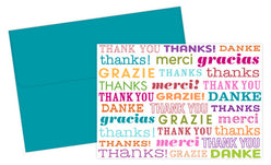 Type Set Thank You Note  -  24 Count