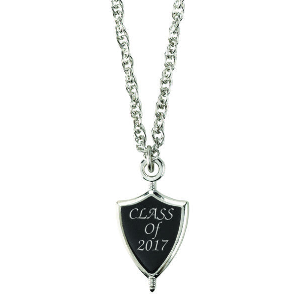 Class of 2017 Graduation Senior Key Necklace Silver