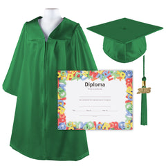 Kindergrad Shiny Kindergarten Graduation Cap and Gown with Matching 2018 Tassel and Diploma - Size  30""
