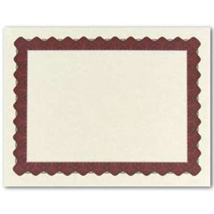 Metallic Red Parchment Certificate  -  25 Count