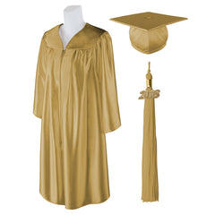 "Standard SHINY Graduation Cap and Gown with Matching 2018 Tassel - Size  5'6""-5'8"""