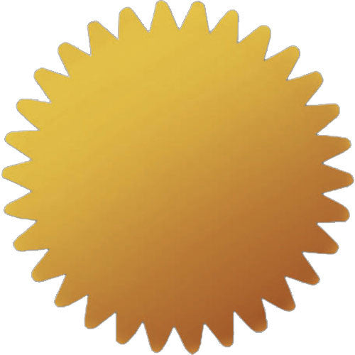Gold Foil Certificate Seals  - 100 Count
