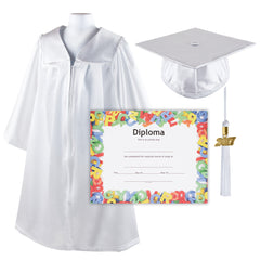 Kindergrad Shiny Kindergarten Graduation Cap and Gown with Matching 2017 Tassel and Diploma - Size  30""