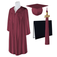 "Standard SHINY Graduation Cap, Gown and DIPLOMA with Matching 2018 Tassel - Size  5'0""-5'2"""