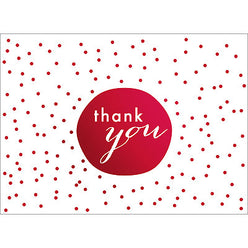Tiny Dots Thank You Note- Red-  10 Count