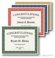 Assorted Traditional Certificates  --  40 Count
