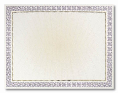 Purple Westminster Parchment Certificates  --  15 Count
