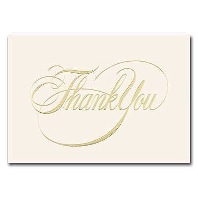 Elegant Thank You  -  25 Cards 25 Envelopes