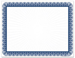 Blue Value Certificate 100 sheet pack