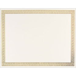 Gold Channel Foil Certificate  -- 12 sheet pack