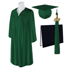 "Standard SHINY Graduation Cap, Gown and DIPLOMA with Matching 2018 Tassel - Size  5'6""-5'8"""