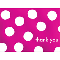 Big Dots Thank You Note- Pink-  10 Count
