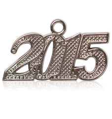 Year 2015 Silver Drop Date Signet for Graduation Tassel