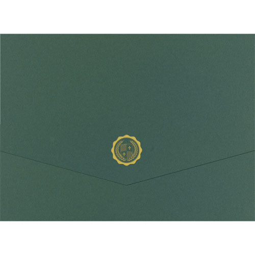 Hunter Emblem Tri-Fold Certificate Cover  -  5 Count
