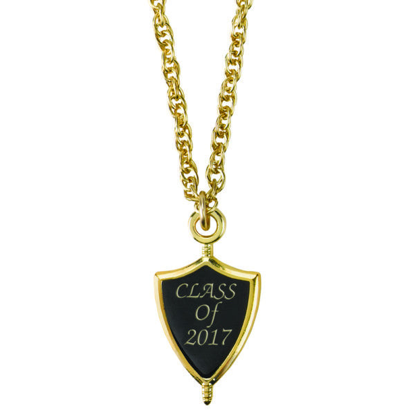 Class of 2017 Graduation Senior Key Necklace Gold