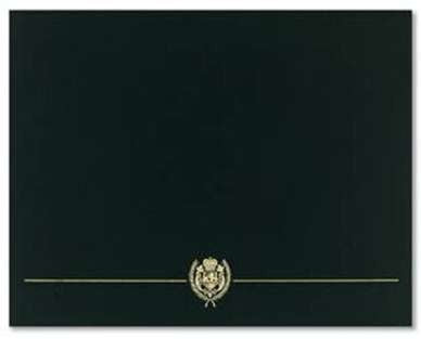 Black Classic Crest Certificate Cover  --   5 Count