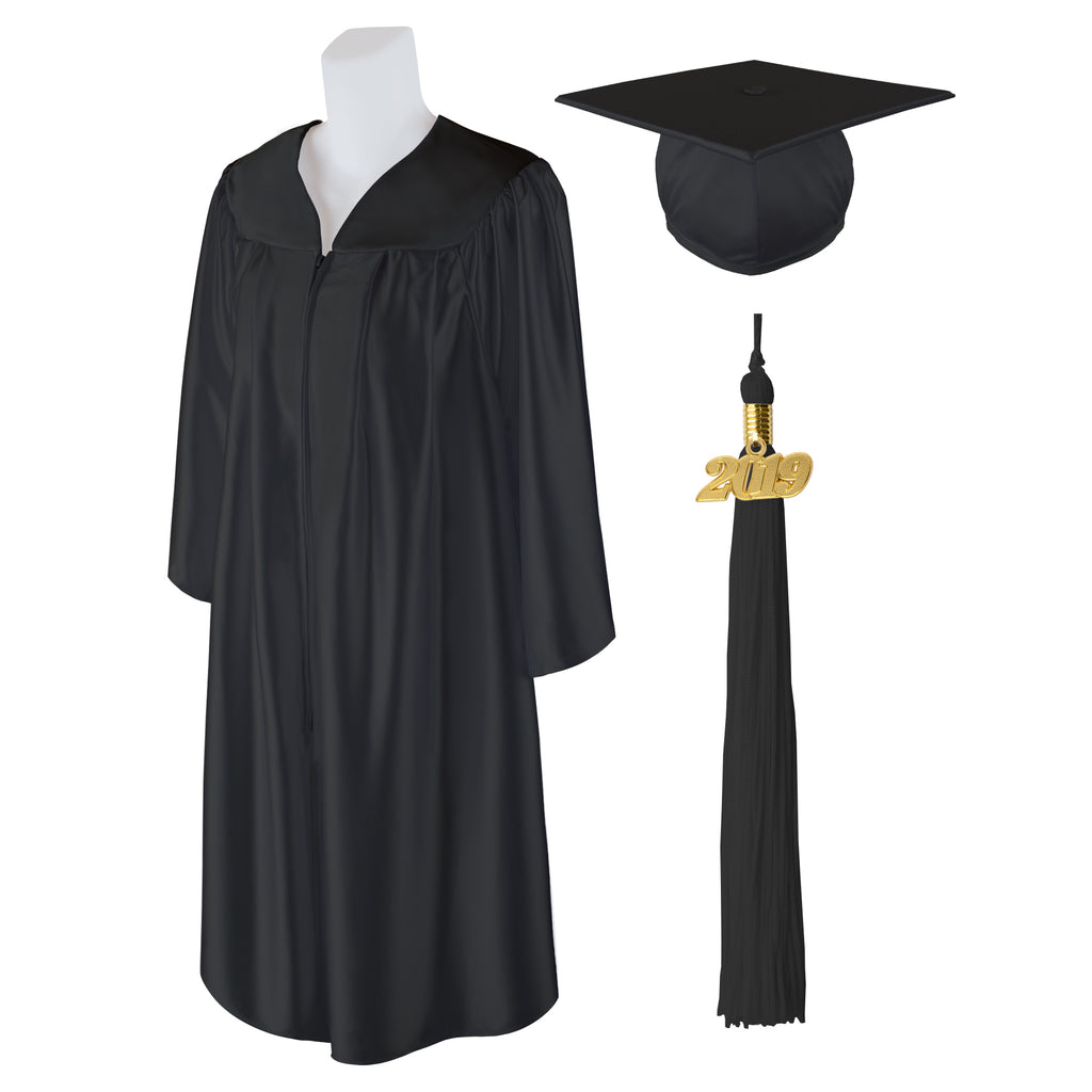 Class Act Graduation Adult Unisex Shiny Graduation Cap and Gown with 2019 Bling Tassel, X-Large