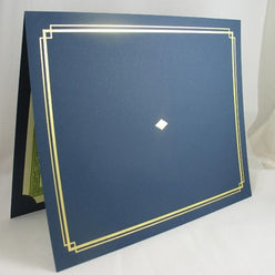 Blue Award Certificate Holder  --  6 Count
