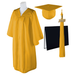 "Standard Matte Graduation Cap, Gown and DIPLOMA Cover with Matching 2018 Tassel - Size  Plus 3 6'0""-6'5"" Over 350 lb."