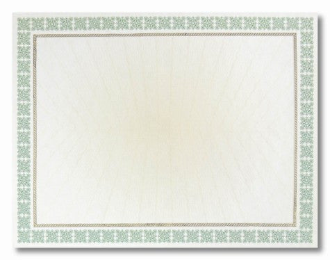 Green Westminster Parchment Certificates  -  15 Count