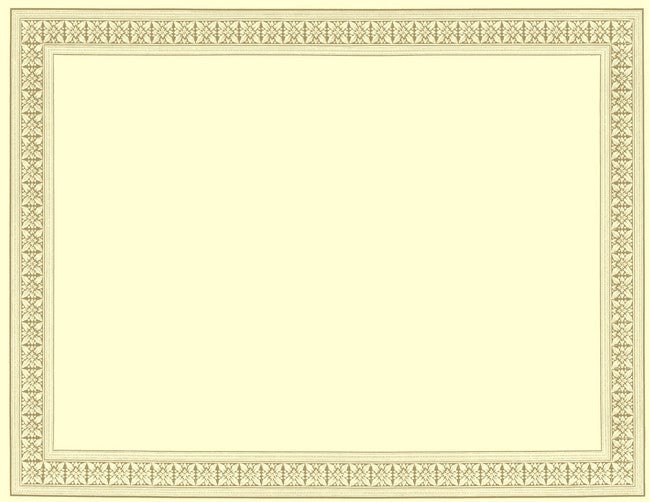 Flourish Gold Foil Certificate  -  12 Sheet Pack