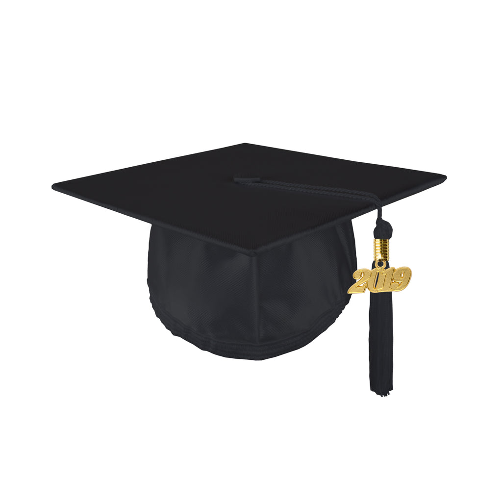 Youth Unisex Shiny Graduation Cap with 2019 Tassel
