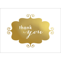 Banner Thank You Note- Gold-  10 Count