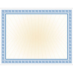 Blue Westminster Non-Foil Certificate Paper    100 Certificate Pack