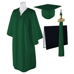 "Standard Matte Graduation Cap, Gown and DIPLOMA Cover with Matching 2018 Tassel - Size  Plus 2 5'6""-5'11"" Over 295 lb."