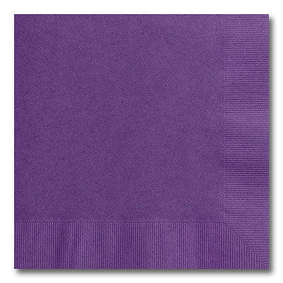 Purple Beverage Napkins