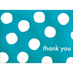 Big Dots Thank You Note- Blue  -  10 Count