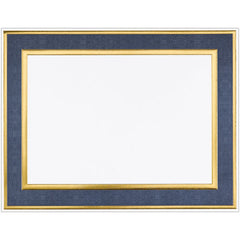 Navy Frame Foil Certificate  -  15 Count