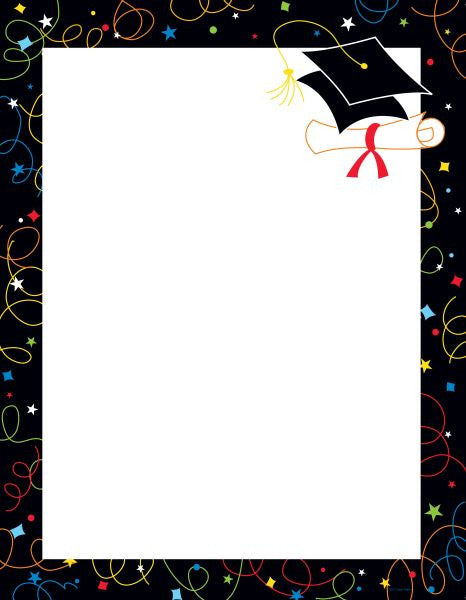 Grad Swirls Letterhead  - 25 Sheet Pack