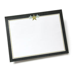 Gold & Silver Stars Certificate  --  25 Sheet Pack
